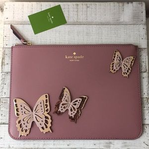 NWT Kate spade Gia all the buzz butterfly pouch